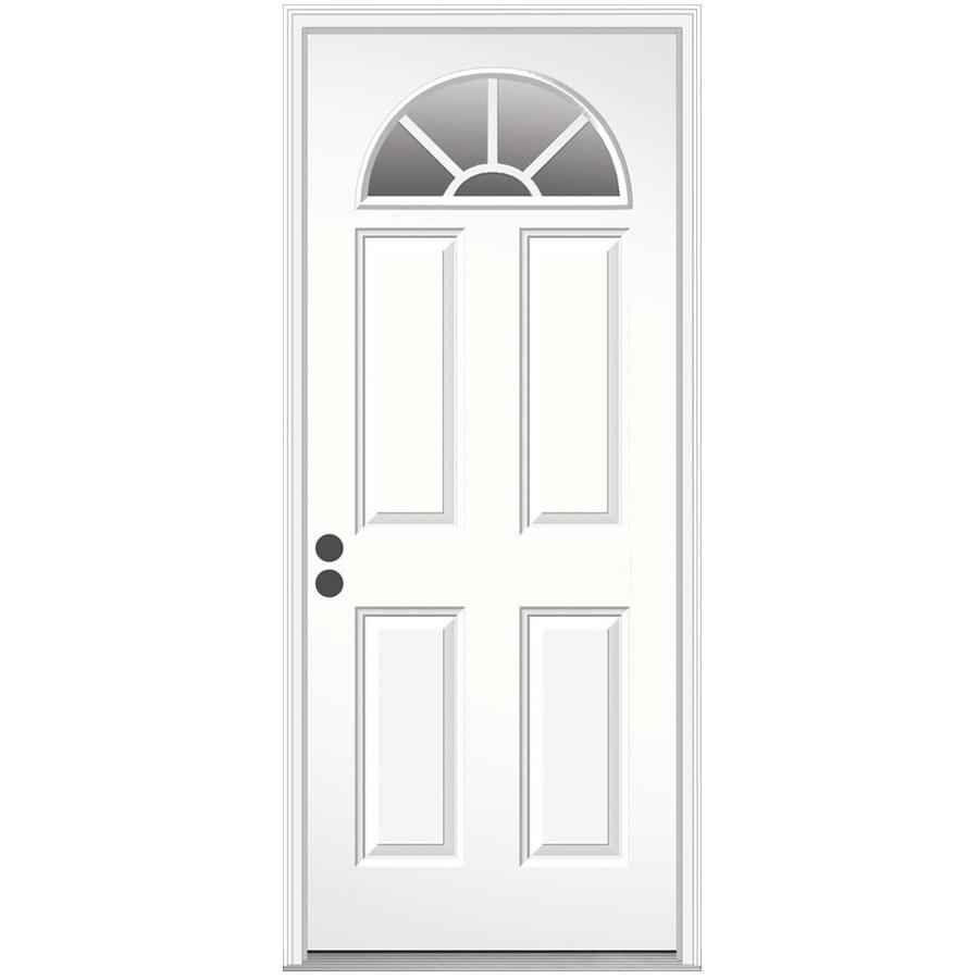 Shop ReliaBilt 4-Panel Prehung Inswing Steel Entry Door