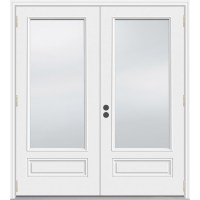 Shop JELD-WEN 71.5-in 1-Lite Glass Composite French ...