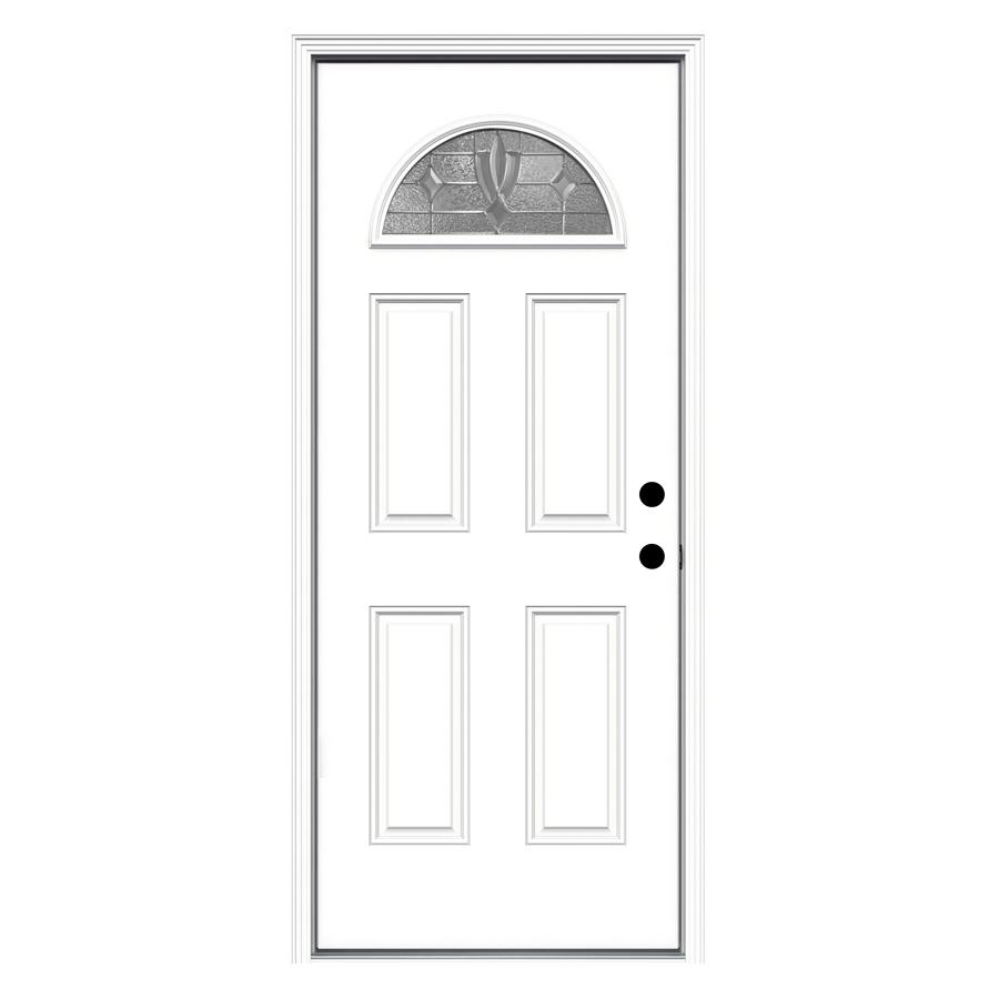 Shop ReliaBilt Fan Lite Prehung Inswing Steel Entry Door