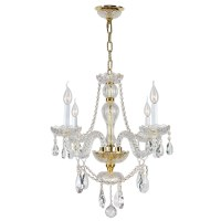 Shop Worldwide Lighting 4-Light Crystal Chandelier at ...