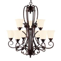 Shop Shandy 9-Light New Tortoise Shell Chandelier at Lowes.com