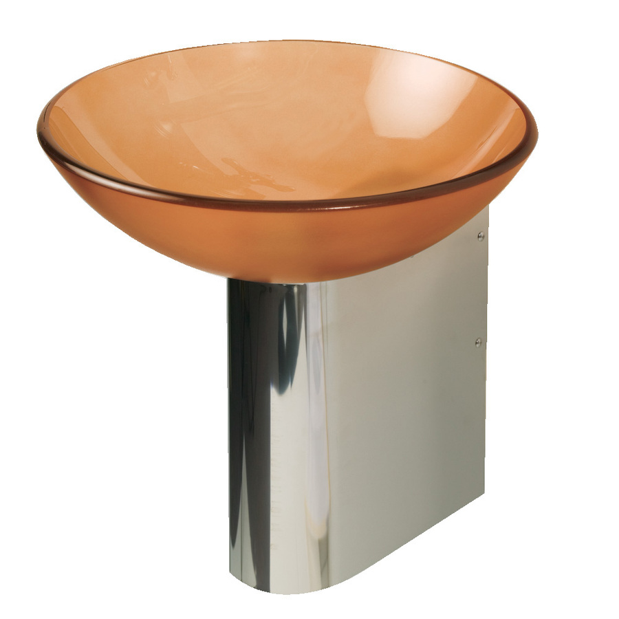 Shop DECOLAV Wall Mounts 11875in H Polished Stainless Steel Pedestal Sink Base at Lowescom