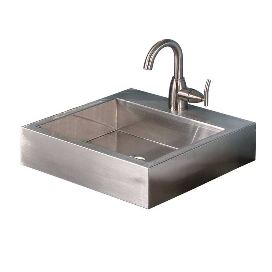 Shop DECOLAV Simply Stainless Brushed Stainless Steel Drop