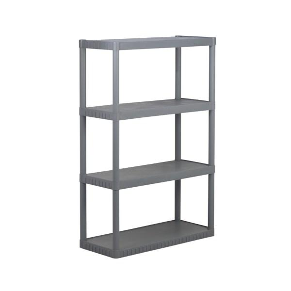 Enviro Elements 55-in X 34-in 16-in 4-tier Plastic Freestanding Shelving Unit