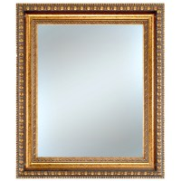 Shop Alpine Art & Mirror 26-in x 30-in Gold Rectangle ...