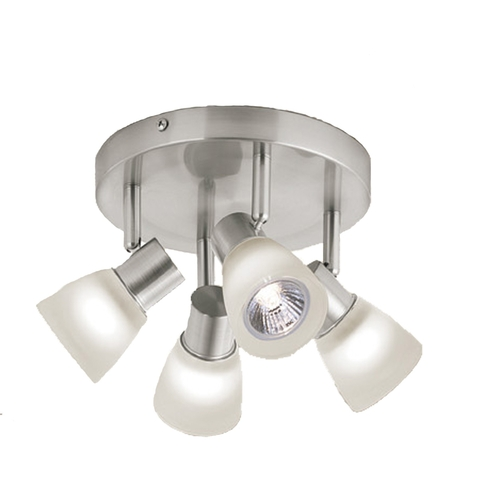 Zoomed: Style Selections 4-Light Chrome Flush Mount Fixed Track Light Kit