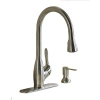 Shop AquaSource Stainless Steel Pull-Down Kitchen Faucet ...