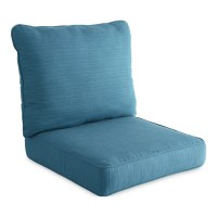 Shop allen + roth Sunbrella Deep Sea Deep Seat Patio Chair ...