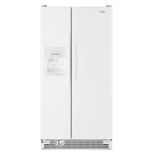 Zoomed: Whirlpool 25.1 Cu. Ft. Side-by-Side Refrigerator (Color: White) ENERGY STAR