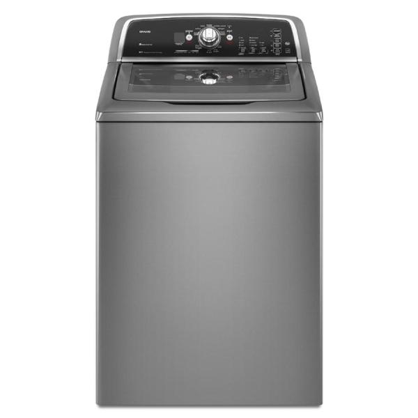 Maytag Bravos 3.6-cu Ft High-efficiency Top-load Washer Lunar Silver Energy Star