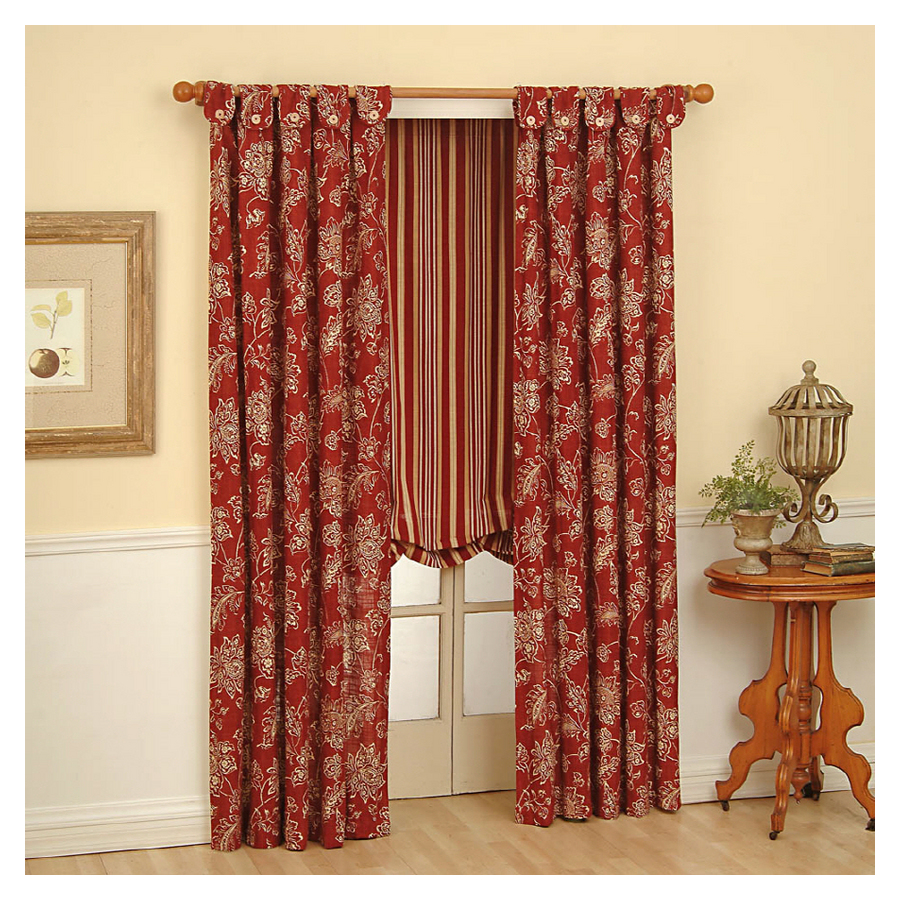 Shop Waverly 63in L Ruby Curtain at Lowescom