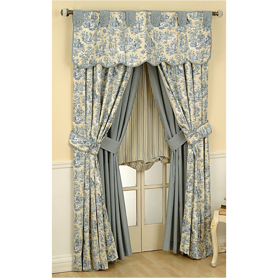 Shop Waverly Rustic Life 84in L Lake Rod Pocket Curtain Panel at Lowescom
