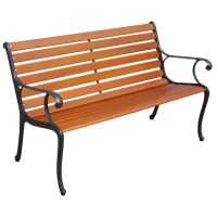Shop Garden Treasures 50-in L Painted Wood Patio Bench at ...
