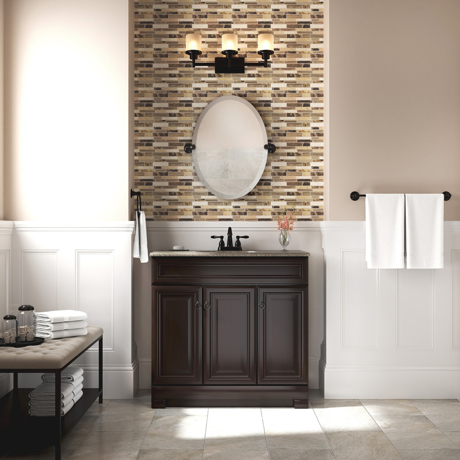 Delta Providence 19 In Venetian Bronze Oval Frameless Bathroom Mirror In The Bathroom Mirrors Department At Lowes Com