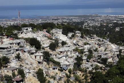 Le séisme qui avait frappé Haïti en janvier... (Photo Reuters)