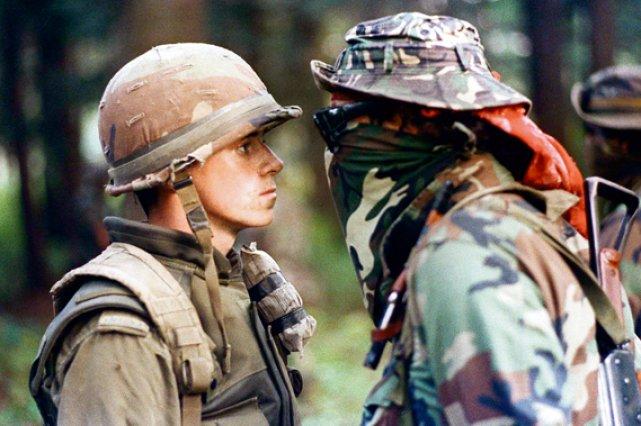 Le face-à-face entre le soldat Patrick Cloutier et... (Photothèque Le Soleil)