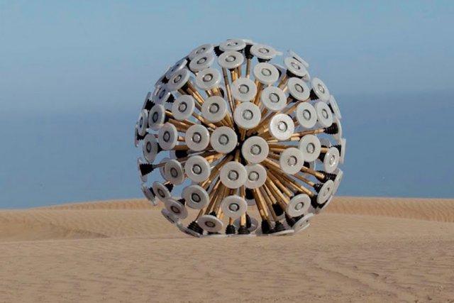 Une boule de bambou, de la grandeur d'un... (PHOTO TIRÉE DU BLOGUE DE MASSOUD HASSANI)