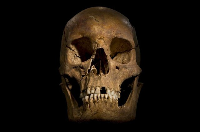 Le crâne de Richard III.... (Photo AFP)