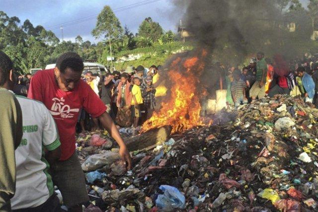 Selon le journal localPost-Courier, Kepari Leniata a été... (PHOTO AFP)