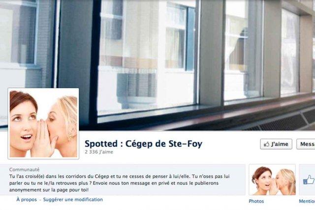 Les pages Spotted ont été créées pour déclarer... (Image tirée de Facebook)