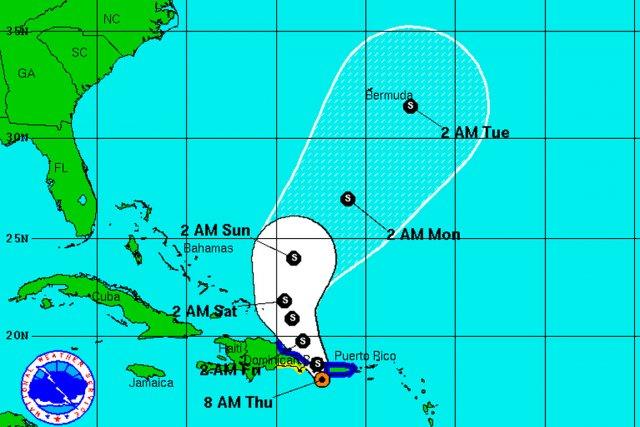 La tempête provoque des vents de 65km/h, a... (IMAGE NHC.NOAA.GOV)