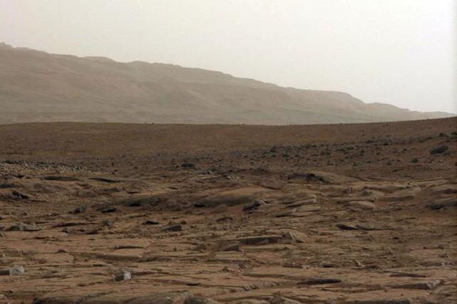 Surface de la planète Mars.... (Photo archives AFP)