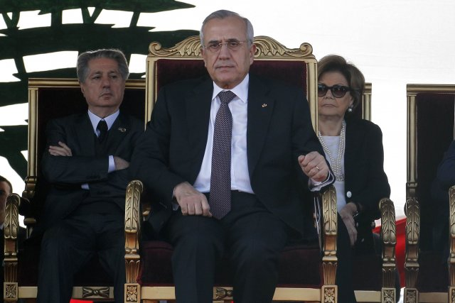 Le président du Liban, Michel Sleiman.... (PHOTO ANWAR AMRO, ARCHIVES AFP)