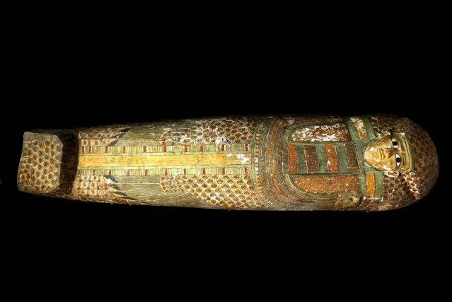 Découvert par une équipe d'archéologues espagnols, le sarcophage... (Photo Associated Press)