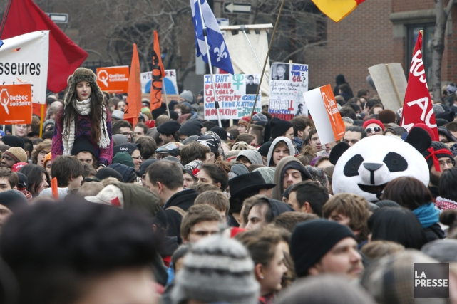 Une manifestation de à laquelle a pris part... (Photo Alain Roberge, archives La Presse)