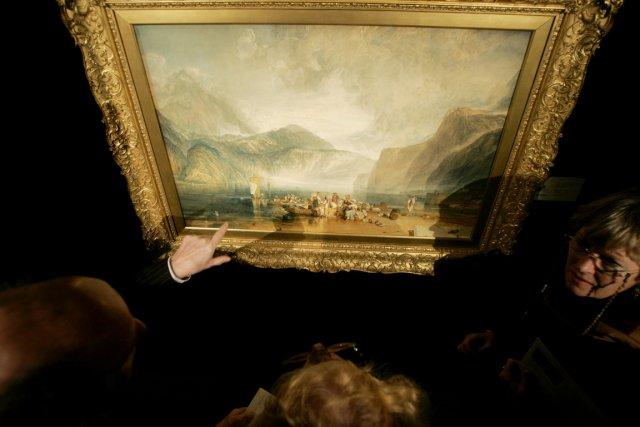 WilliamTurner et les autres peintres européens ont en... (PHOTO MATT DUNHAM, ARCHIVES AP)
