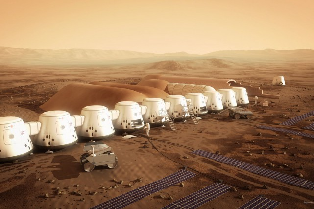 Les habitations du projet Mars One... (PHOTO BRYAN VERSTEEG, ARCHIVES LA PRESSE CANADIENNE)