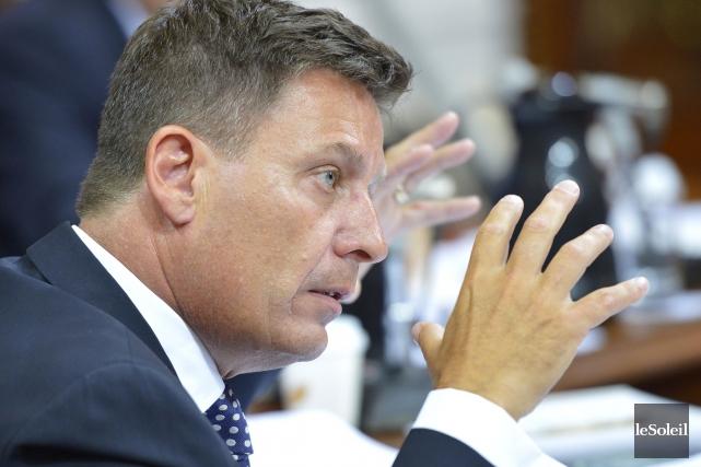 Le ministre libéral des Affaires municipales, Pierre Moreau,... (Le Soleil, Yan Doublet)