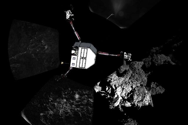Le robot européen Philae qui s'est posé en novembre sur la comète... (Photo Reuters)