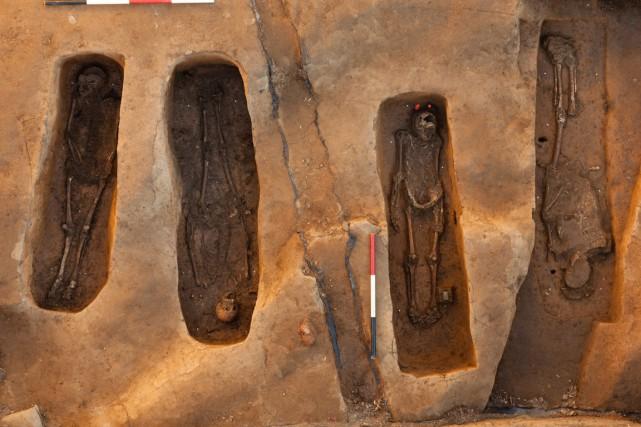 Les ossements de ces hommes ont été découverts... (Photo AFP)