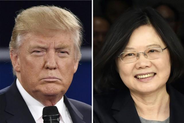 Donald Trump et la présidente taïwanaiseTsai Ing-wen... (PHOTO AFP)