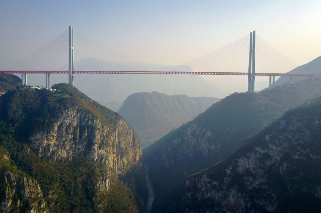 Ouverture En Chine Du Pont Le Plus Haut Du Monde Nuage