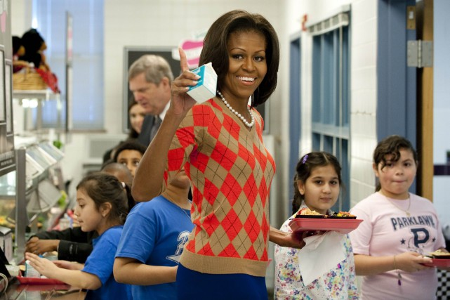 L'initiative de Michelle Obama forçait les écoles à... (Photo Saul LOEB, AFP)