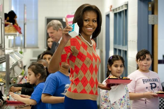L'initiative de Michelle Obama forçait les écoles à... (Photo Saul LOEB, AFP)