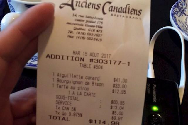 Melvin Pan, de Vancouver, s'est aperçu que l'équivalent... (Photo tirée de yelp)