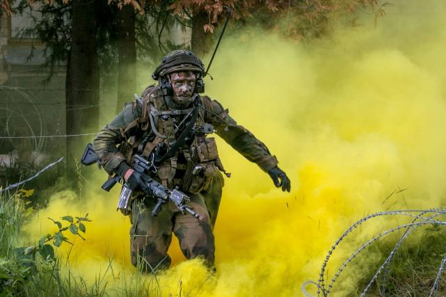 Un soldat norvégien participe à un exercice militaire... (PHOTO REUTERS)