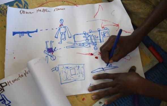 Boko Haram dessiné par des enfants