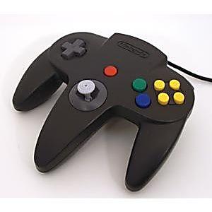 Original Nintendo 64 N64 Black Controller Used