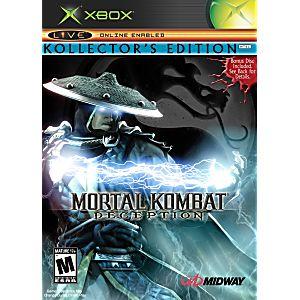 Mortal Kombat Deception Kollectors Edition Raiden Version Xbox Game