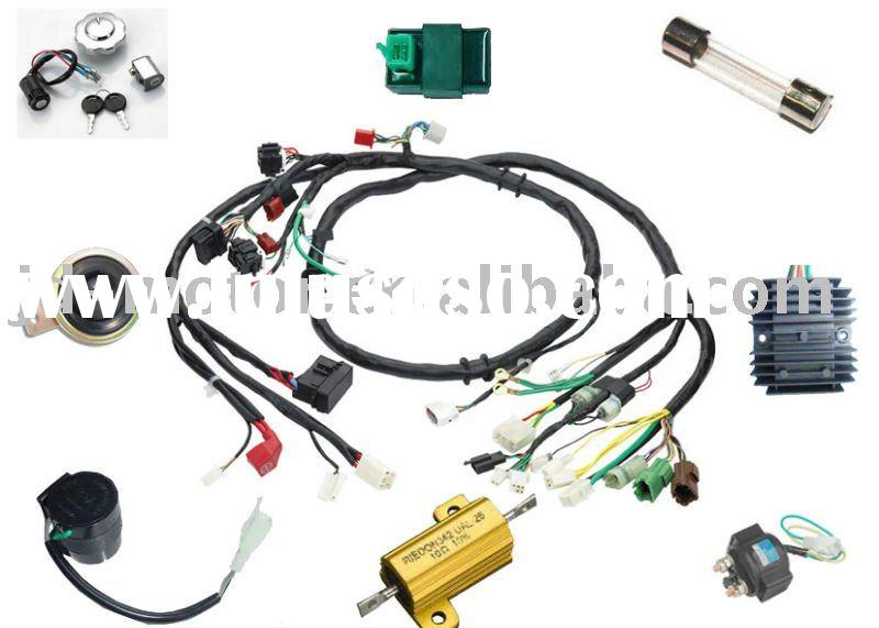 110cc Chopper Wiring Diagram Cg125 Motorcycle Wire Harness For Sale Price