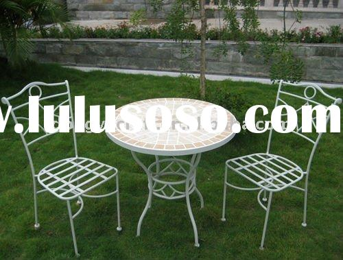 Antique Garden Furniture Round Marble Table Top For Sale