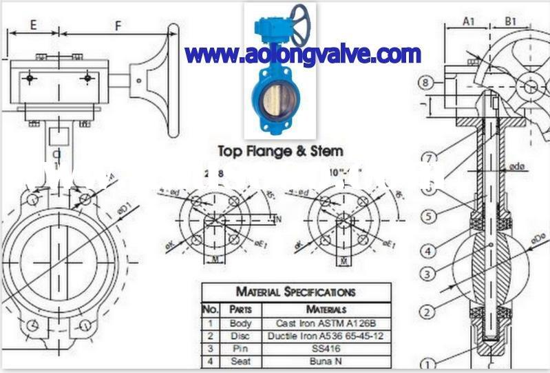 Sell Butterfly Valve Wafer Style Gear Operator for sale