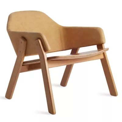 blu dot chairs dental chair parts description clutch leather lounge by at lumens com shown in camel white oak