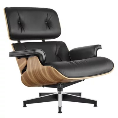 lounge chair leather folding table chairs eames by herman miller at lumens com shown in mcl black fabric with walnut frame finish