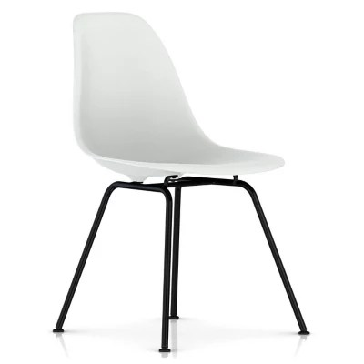 eames molded side chair banana leaf rocking plastic 4 leg base by herman miller at shown in alpine with black finish