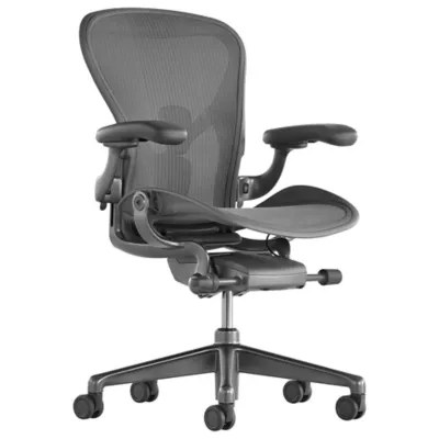 desk chair size office chairs houston modern home at lumens com aeron b carbon